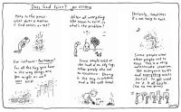 cartoons leunig  does god exist an essay
